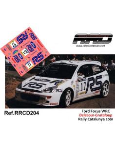 Ford Focus WRC Delecour-Grataloup Rally Catalunya 2001