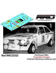Ford Escort MK2 Beny-Formoso Criterium Guilleries 1977
