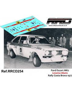 Ford Escort MK2 Lezama-Abans Rally Costa Brava 1977