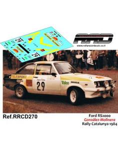 Ford Escort RS2000 Gonzalez-Molinera Rally Catalunya 1984