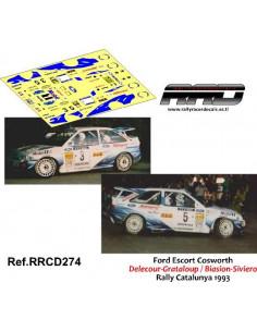 Ford Escort Cosworth Delecour-Grataloup Biasion Siviero Rally Catalunya 1993