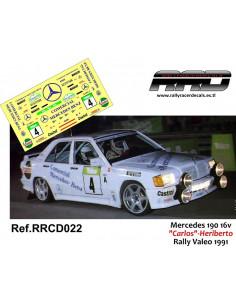 Mercedes 190 16v Carlos-Heriberto Rally Valeo 1991