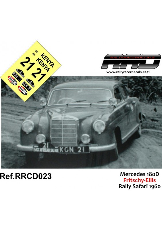 Mercedes 180D Fritschy-Ellis Rally Safari 1960