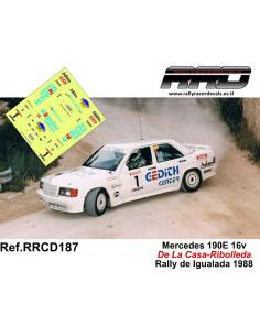 Mercedes 190E 16v De La Casa-Ribolleda Rally de Igualada 1988