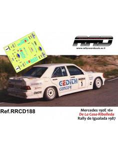 Mercedes 190E 16v De La Casa-Ribolleda Rally Igualada 1987