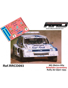 MG Metro 6R4 Arbelaitz-Juvanteny Rally de Gijon 1993