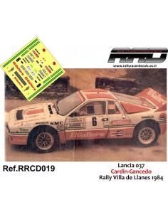Lancia 037 Cardin-Gancedo Rally Villa de Llanes 1984