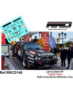Lancia Delta Integrale Lucky-Pons Rally Costa Brava 2015