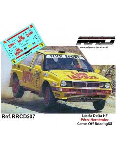 Lancia Delta HF Perez-Hernandez Camel Off Road 1988
