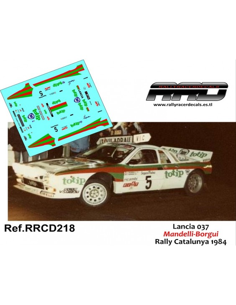 Lancia 037 Mandelli-Borgui Rally Catalunya 1984