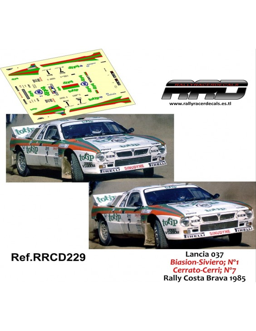 Lancia 037 Biasion-Siviero Cerrato-Cerri Rally Costa Brava 1985
