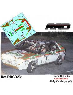 Lancia Delta 16v Cerrato-Cerri Rally Catalunya 1987
