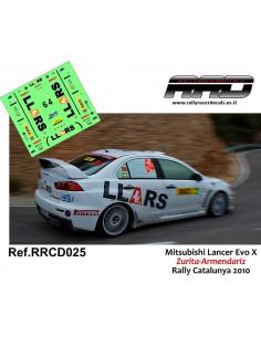 Mitsubishi Lancer Evo X Zurita-Armendariz Rally Catalunya 2010