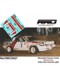 Mitsubishi Starion Turbo Rivero-Cruz Rally Islas Canarias 1988