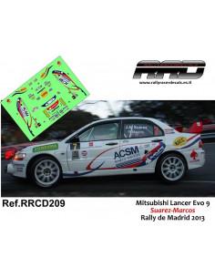 Mitsubishi Lancer Evo 9 Suarez-Marcos Rally de Madrid 2013
