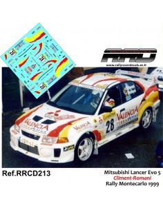 Mitsubishi Lancer Evo 5 Climent-Romani Rally Montecarlo 1999
