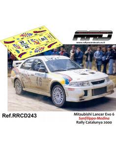 Mitsubishi Lancer Evo 6 Sanfilippo-Medina Rally Catalunya 2000