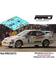 Mitsubishi Lancer Evo5 Sanchez-Sanchez Rallysprint Sant Julia 2000