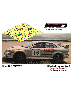 Mitsubishi Lancer Evo 6 Sanchez-Sanchez Rally Osona 2000