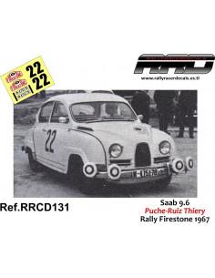 Saab 96 Puche-Ruiz-Thiery Rally Firestone 1967