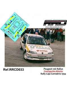 Peugeot 106 Rally Concepcion-Aragon Rally Caja Cantabria 1994