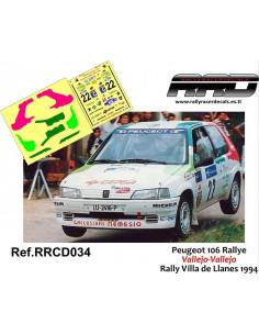 Peugeot 106 Rally Vallejo-Vallejo Rally Villa de Llanes 1994