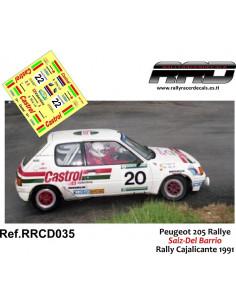 Peugeot 205 Rallye Saiz-Del Barrio Rally Cajalicante 1991