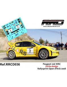 Peugeot 206 WRC Zurita-Amigo Rallysprint Open d'Avia 2008