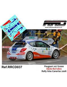 Peugeot 207 S2000 Ojeda-Barrabes Rally Islas Canarias 2008