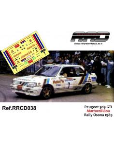 Peugeot 309 GTI Martorell-Bou Rally Osona 1989