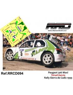 Peugeot 306 Maxi Teruel-Garcia Rally Sierra de Cadiz 1999