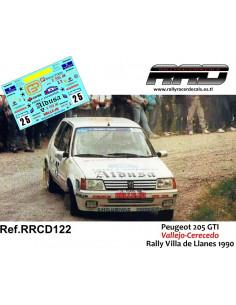 Peugeot 205 GTI Vallejo-Cerecedo Rally Villa de Llanes 1990