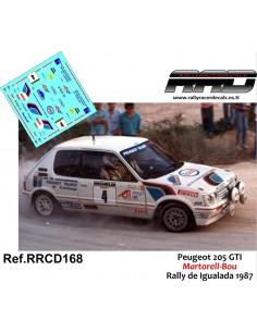 Peugeot 205 GTI Martorell-Bou Rally Igualada 1987