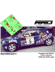 Peugeot 106 KitCar Fuster-Medina Rally de Aviles 1997