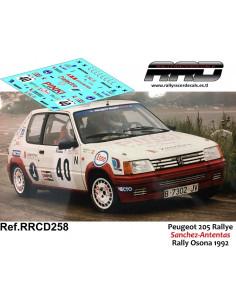 Peugeot 205 Rallye Sanchez-Antentas Rally Osona 1992