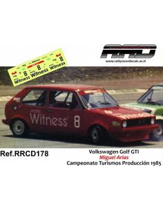 Volkswagen Golf GTI Arias Campeonato Turismos Produccion 1985