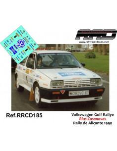 Volkswagen Golf Rallye Rius-Casanova Rally de Alicante 1990