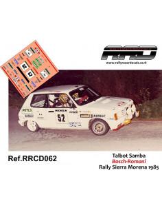 Talbot Samba Bosch-Romani Rally Sierra Morena 1985