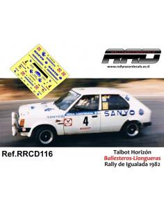 Talbot Horizon Ballesteros-Llongueras Rally de Igualada 1982