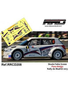Skoda Fabia S2000 Pons-Amigo Rally de Madrid 2013