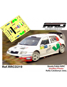 Skoda Fabia WRC Vouilloz-Pivato Rally Catalunya 2005