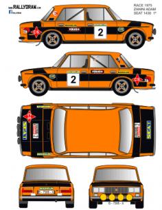 Seat 1430-124 Zanini Race 1975