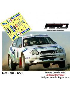 Toyota Corolla WRC Aldecoa-Barrabes Rally Artesa de Segre 2000