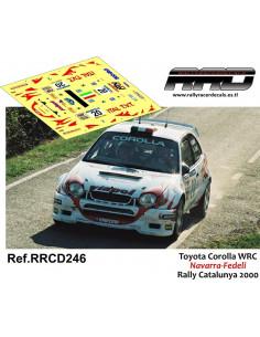 Toyota Corolla WRC Navarra-Fedeli Rally Catalunya 2000