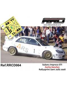 Subaru Impreza STI Zurita-Sanchez Rallysprint Sant Julia 2008