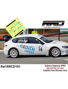 Subaru Impreza WRC Gerard de la Casa Subida en Cuesta Font Romeu 2017