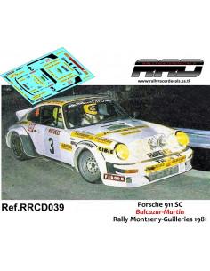 Porsche 911 SC Balcazar-Martin Rally Montseny Guilleries 1981