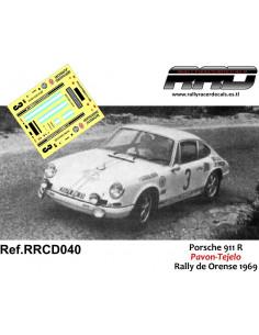 Porsche 911R Pavon-Tejelo Rally Orense 1969
