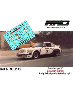 Porsche 911 SC Balcazar-Martin Rally Principe de Asturias 1982
