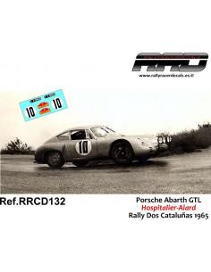 Porsche Abarth GTL Hospitalier-Alard Rally Dos Cataluñas 1965